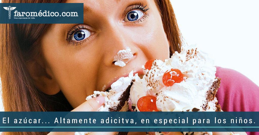 ¿Sabes que el azúcar es altamente adictiva, en especial para los niños?